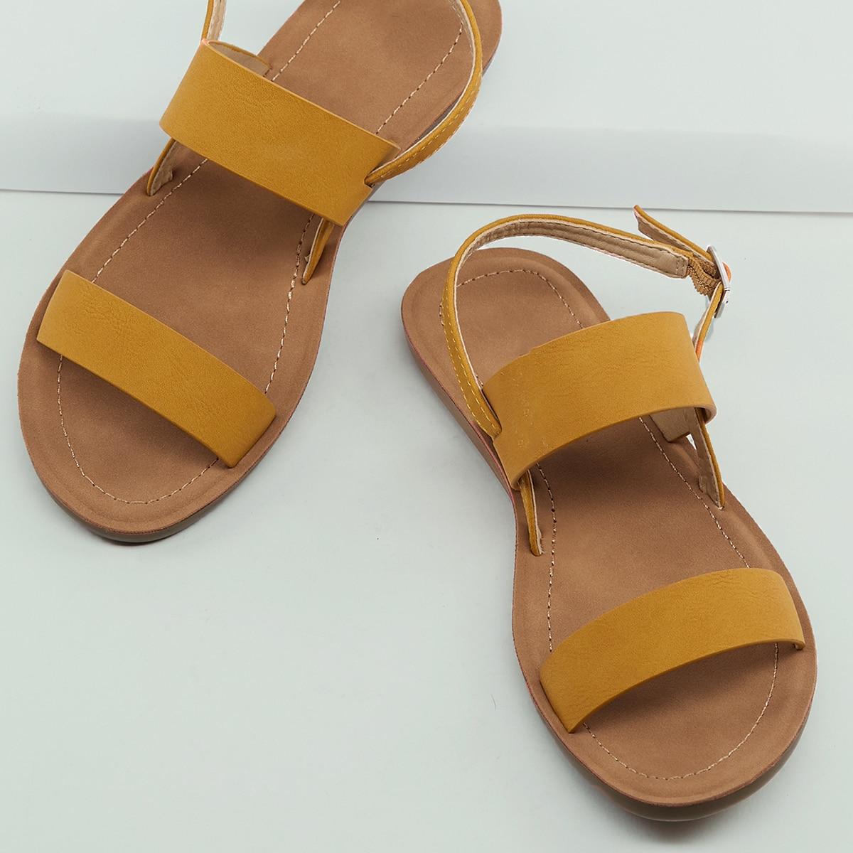 Сандалии с открытой пяткой и открытым носком