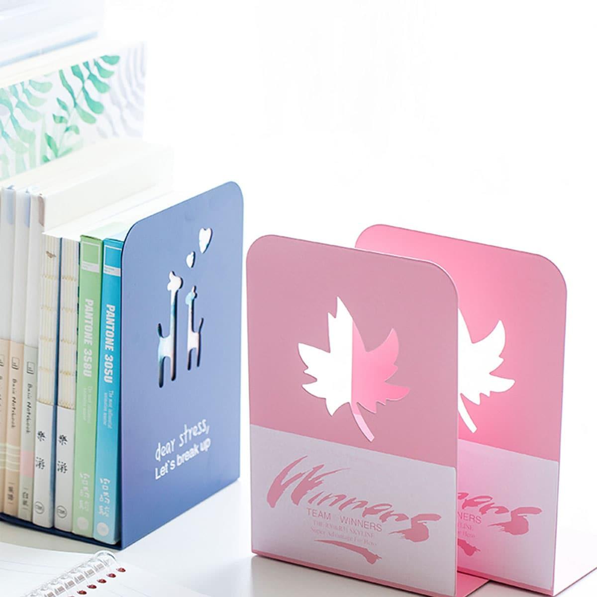 2 stks grafisch ontwerp boekensteun