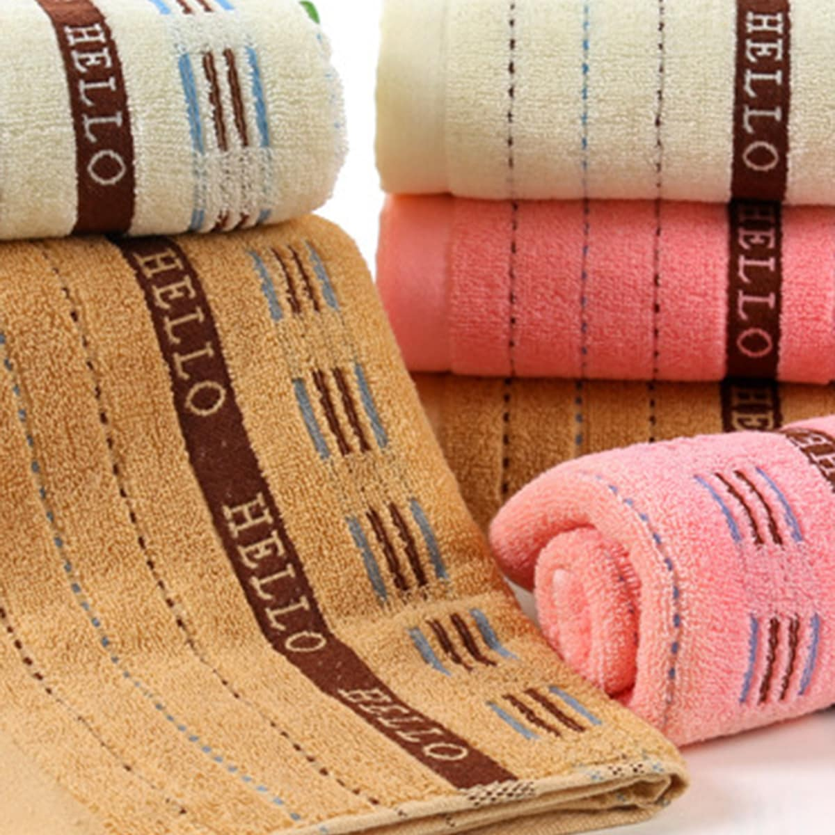 1pc grafische handdoek met streep en letter