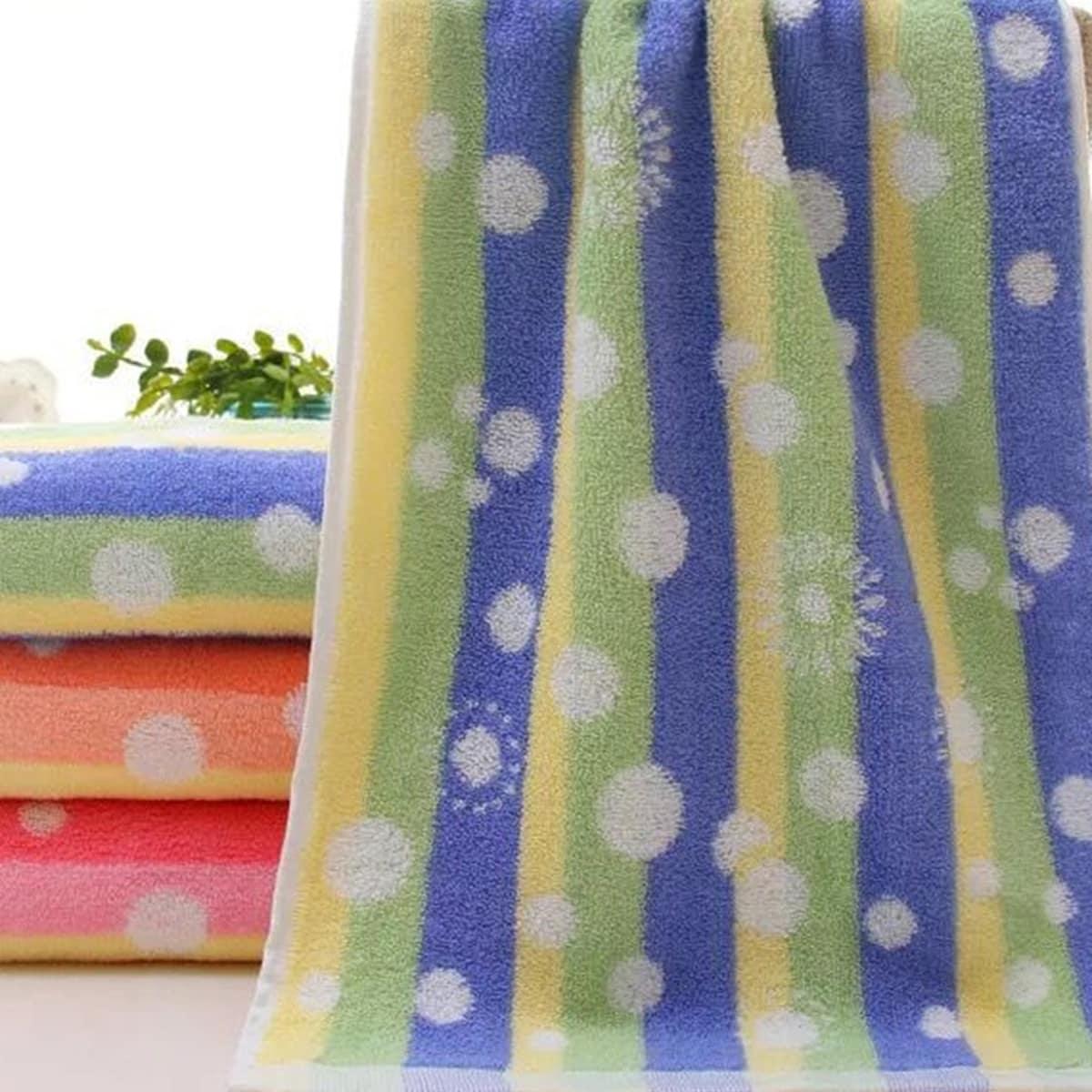 1-delige handdoek met streep- en puntpatroon