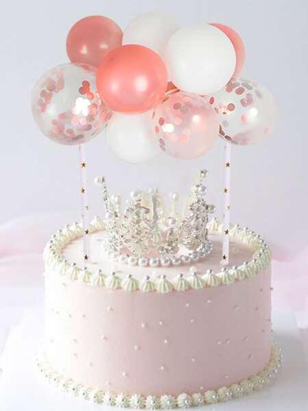 10pcs Decorative Confetti & Latex Balloon Set