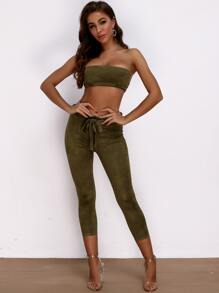 Suede | Capri | Tube | Belt | Pant | Set | Top