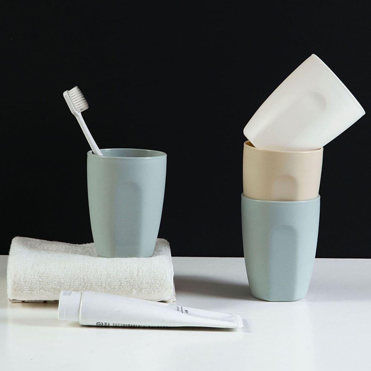 1pc massief plastic tandenborstelbeker
