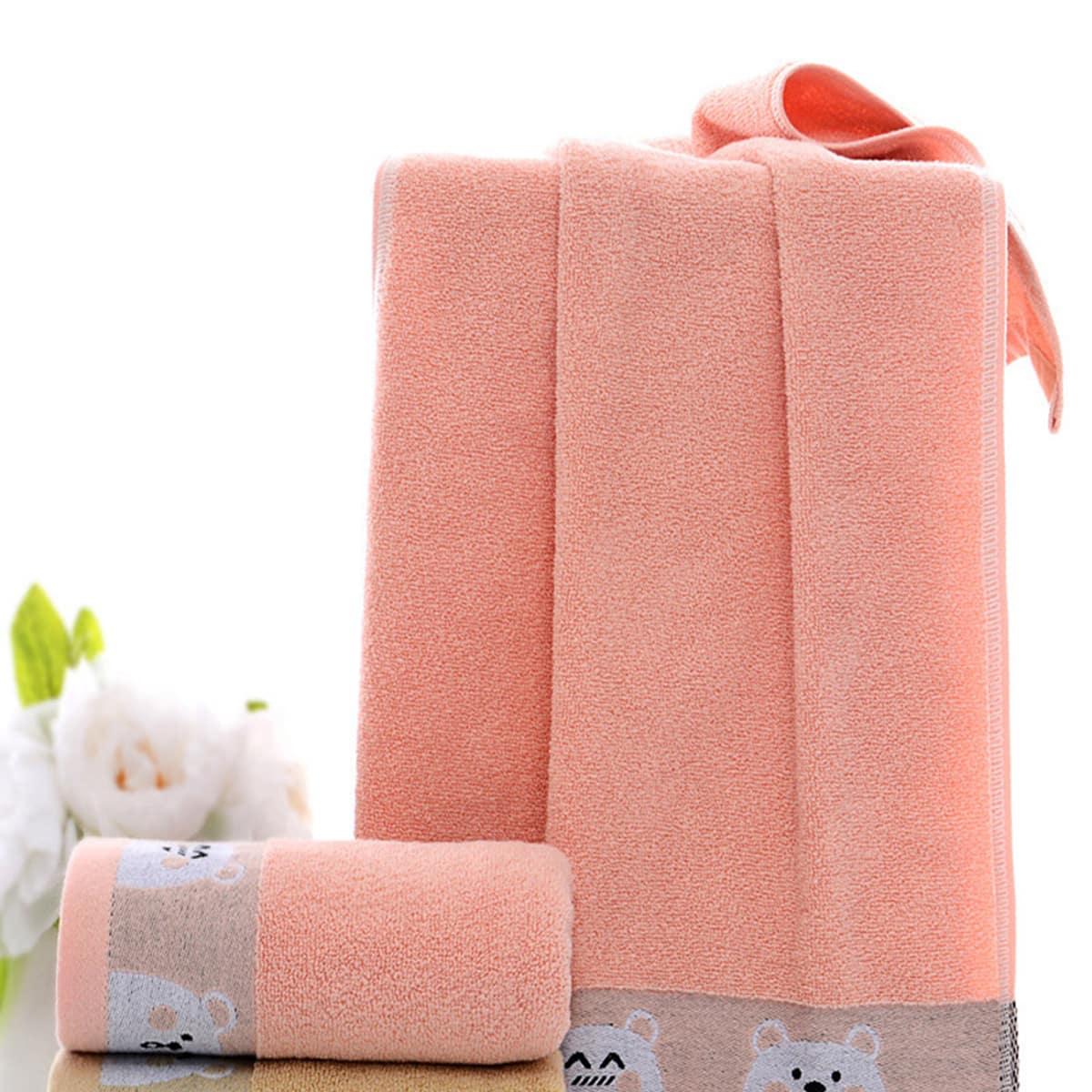 Katoenen handdoek met cartoon patroon van 1 st