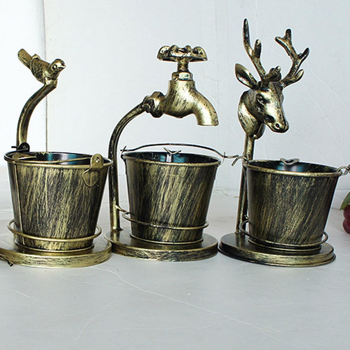 1pc Retro emmer & kraan decoratief object