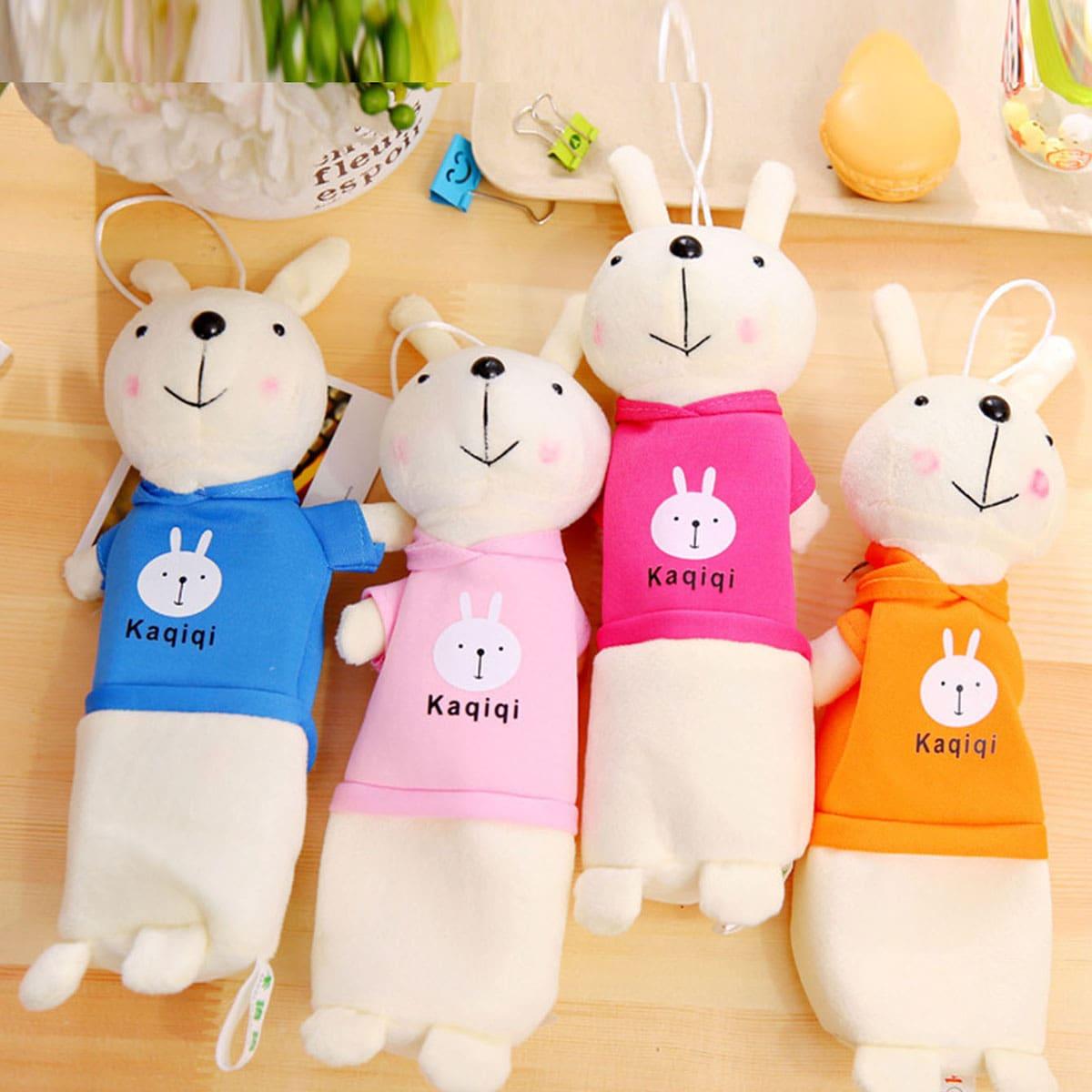 1pc Cartoon Rabbit vormige potlood tas