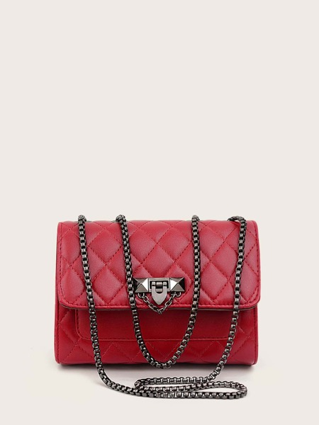 Quilted Flap Chain Bag