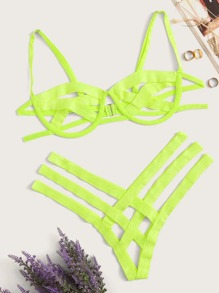 Underwire | Green | Neon | Plus | Set