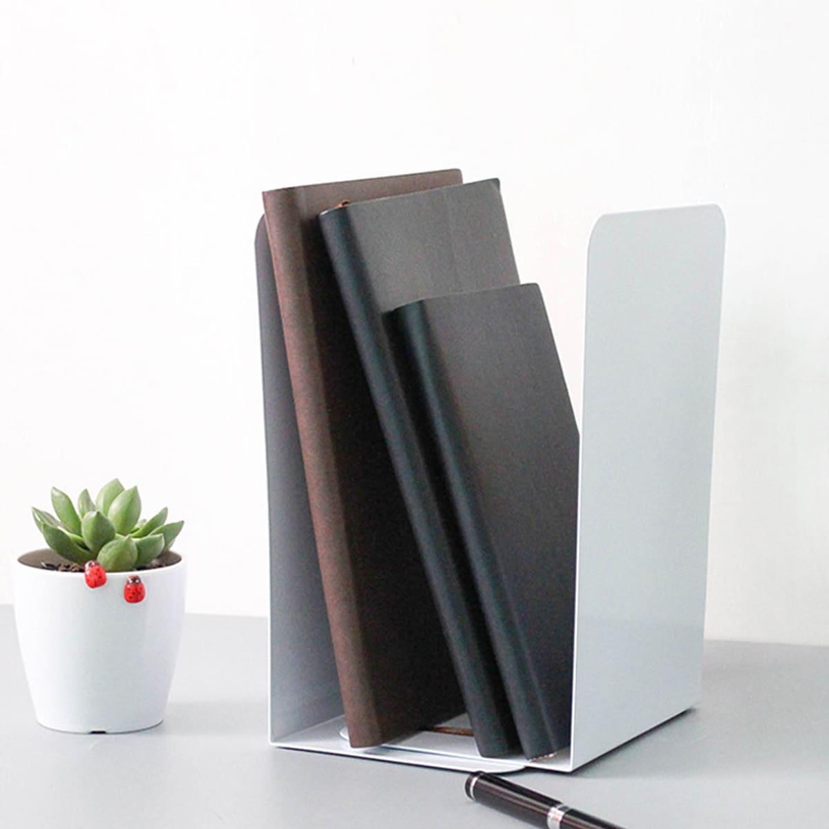 2-delige metalen boekensteun