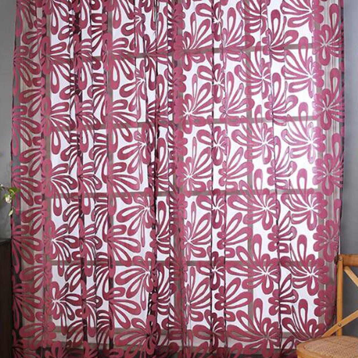 1pc bloem patroon pure gordijn