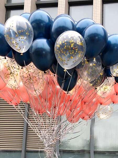 30pcs Decorative Balloon Set With 2pcs Ribbon