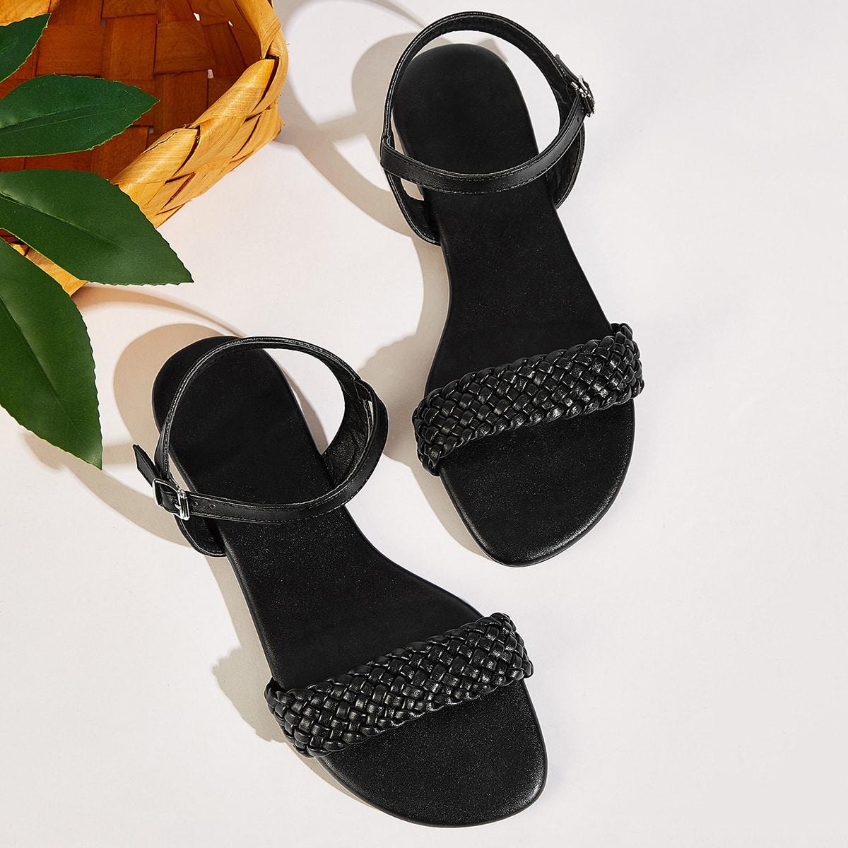Gevlochten sandalen met open teen