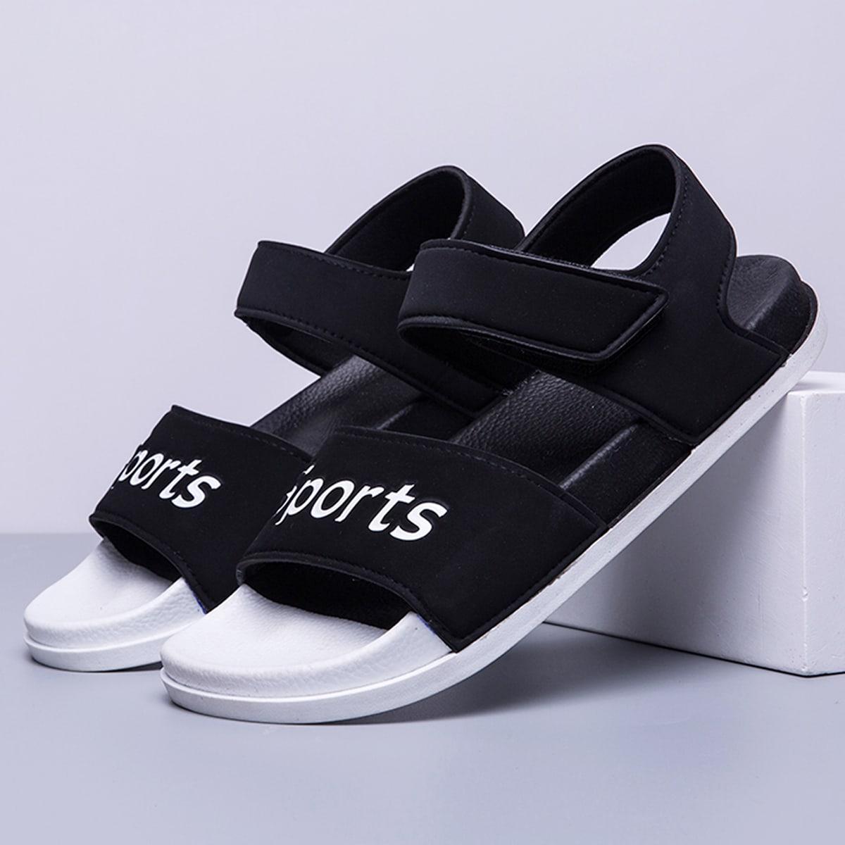 Suede sandalen met klittenbandsluiting voor heren