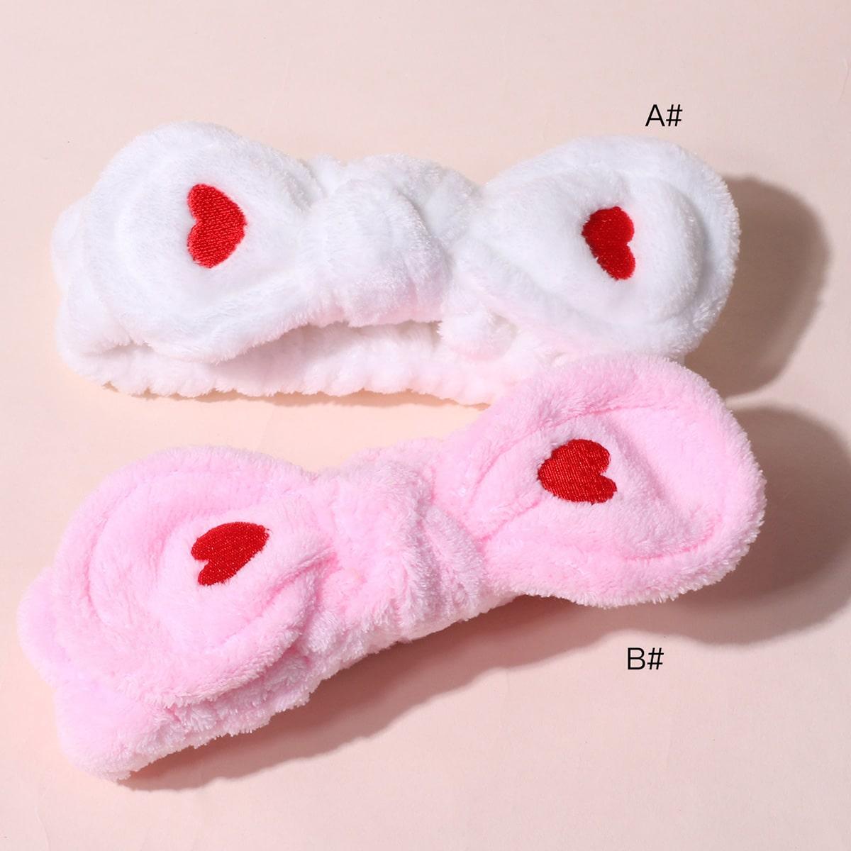 1-delige hartprint boogknoop badhoofdband