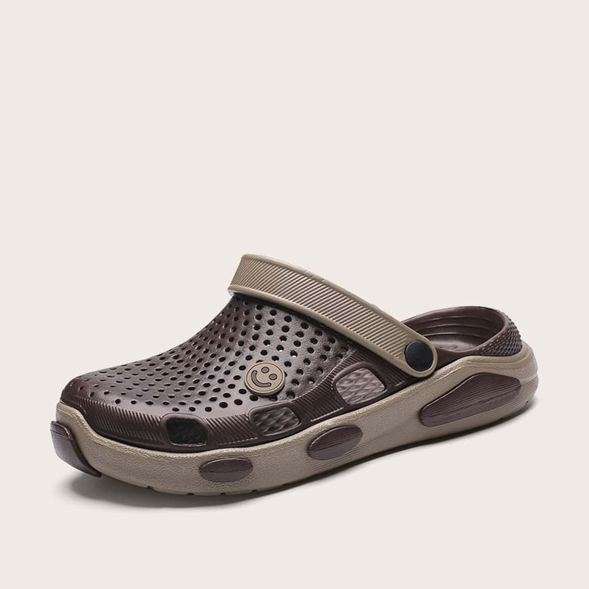 Mannen Smile Face Decor uitgehold sandalen