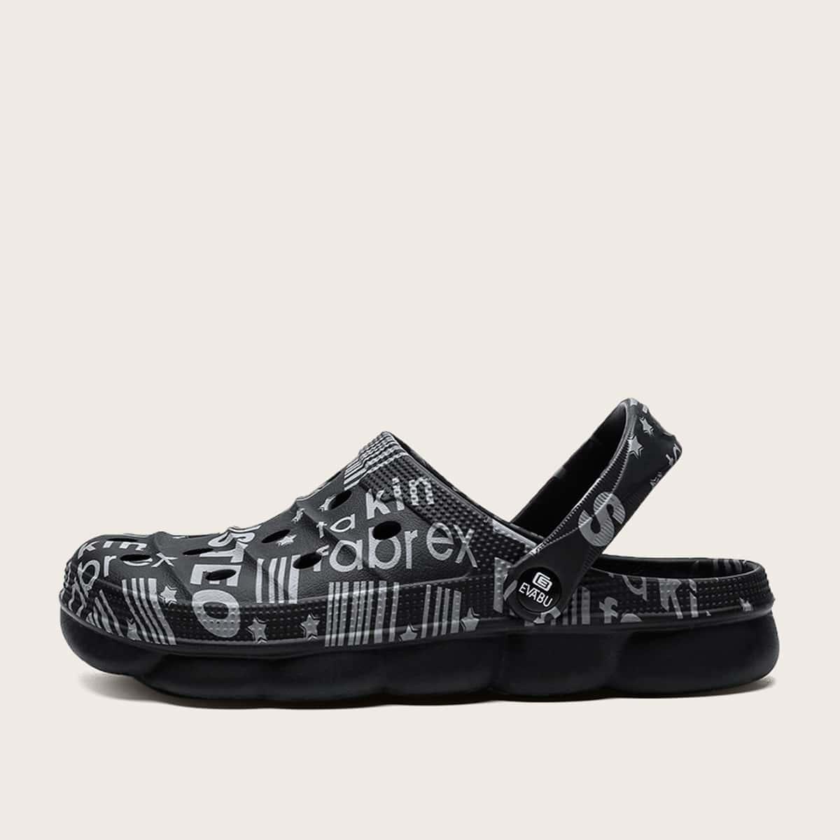 Sandalen met grafische letters voor heren