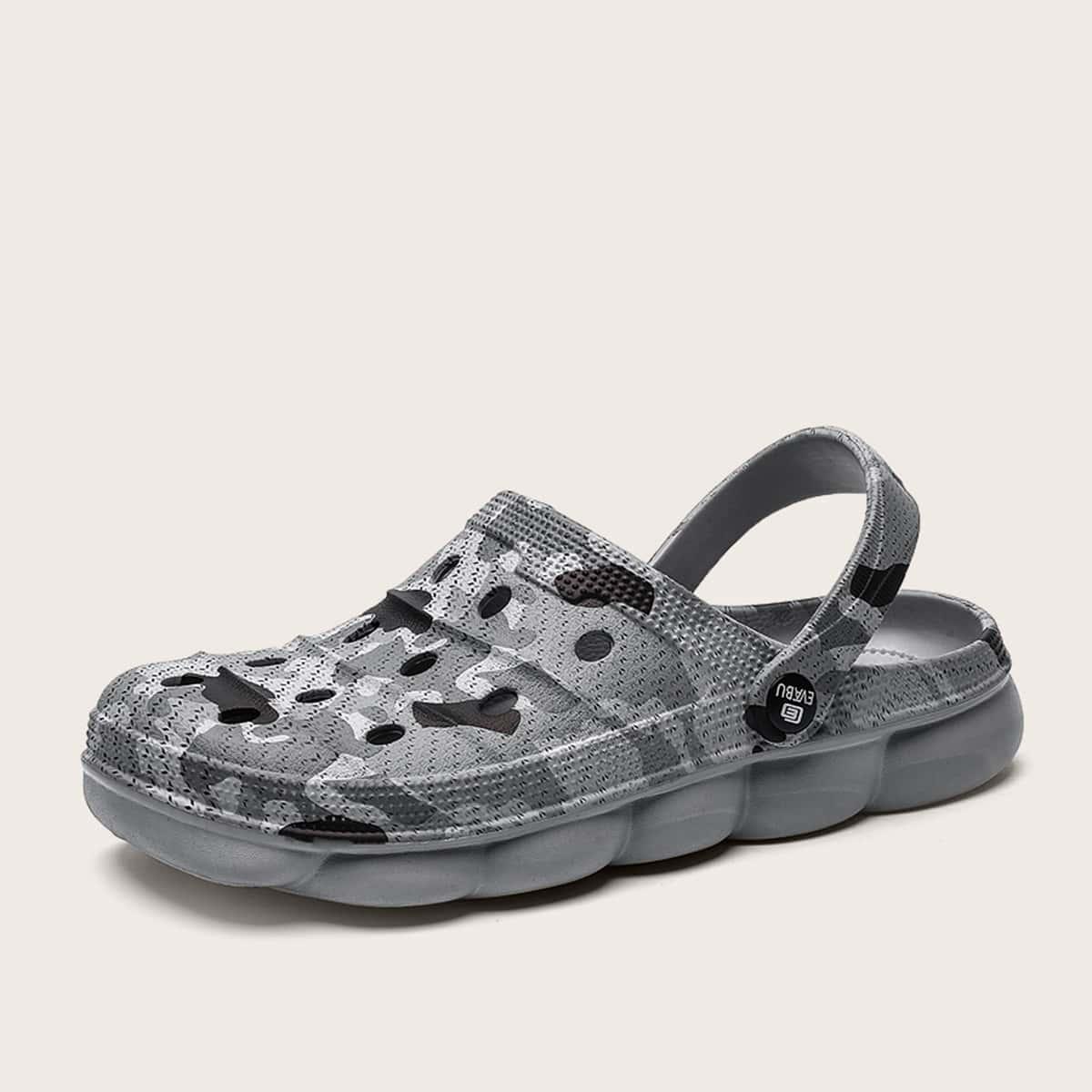 Sandalen met camouflageprint voor heren