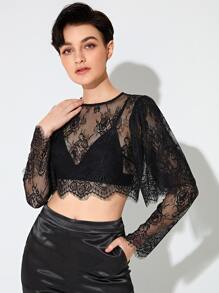 Sheer | Back | Lace | Top