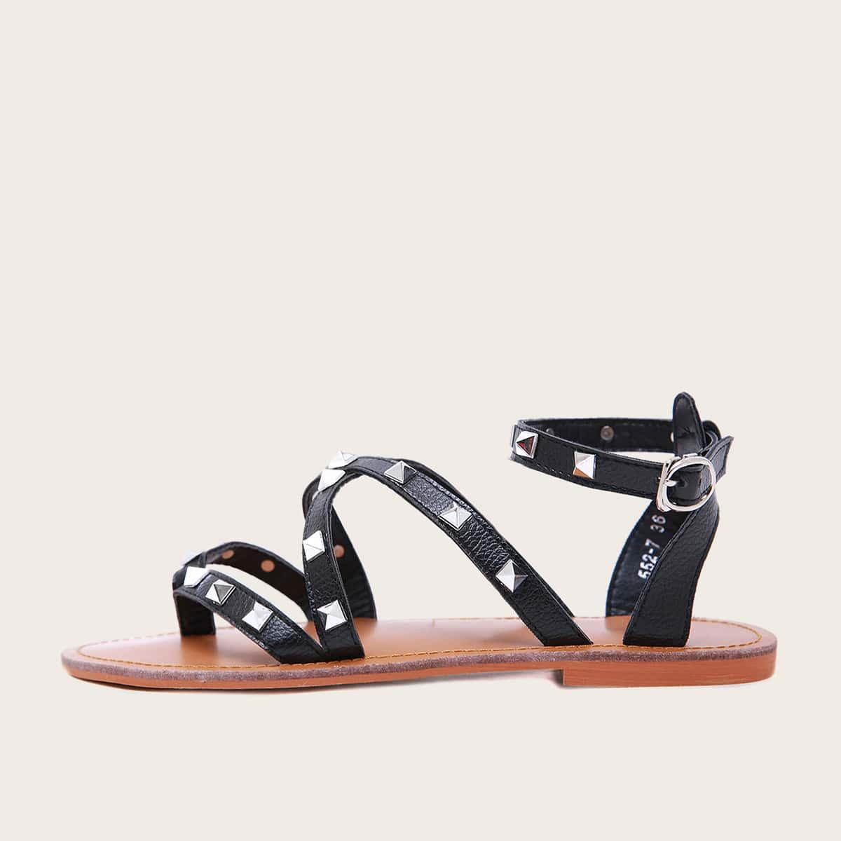 Sandalen met studs met studs en studs met studs