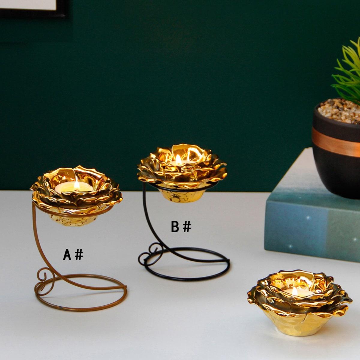 1pc Lotus vormige kaarsenhouder