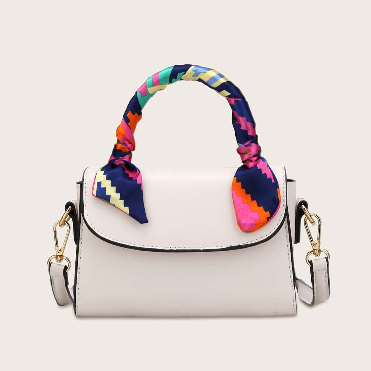 Satchel-tas voor meisjes Twilly met sjaaldecor