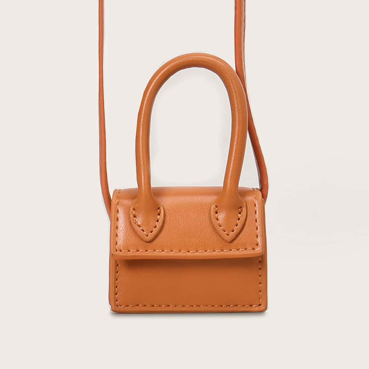 Minimalistische tas met klep voor meisjes