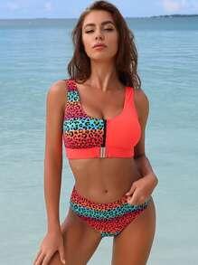 Swimsuit | Leopard | Bikini | Block | Color