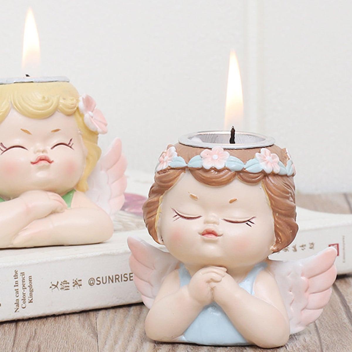 1pc willekeurige engelvormige kaarsenhouder