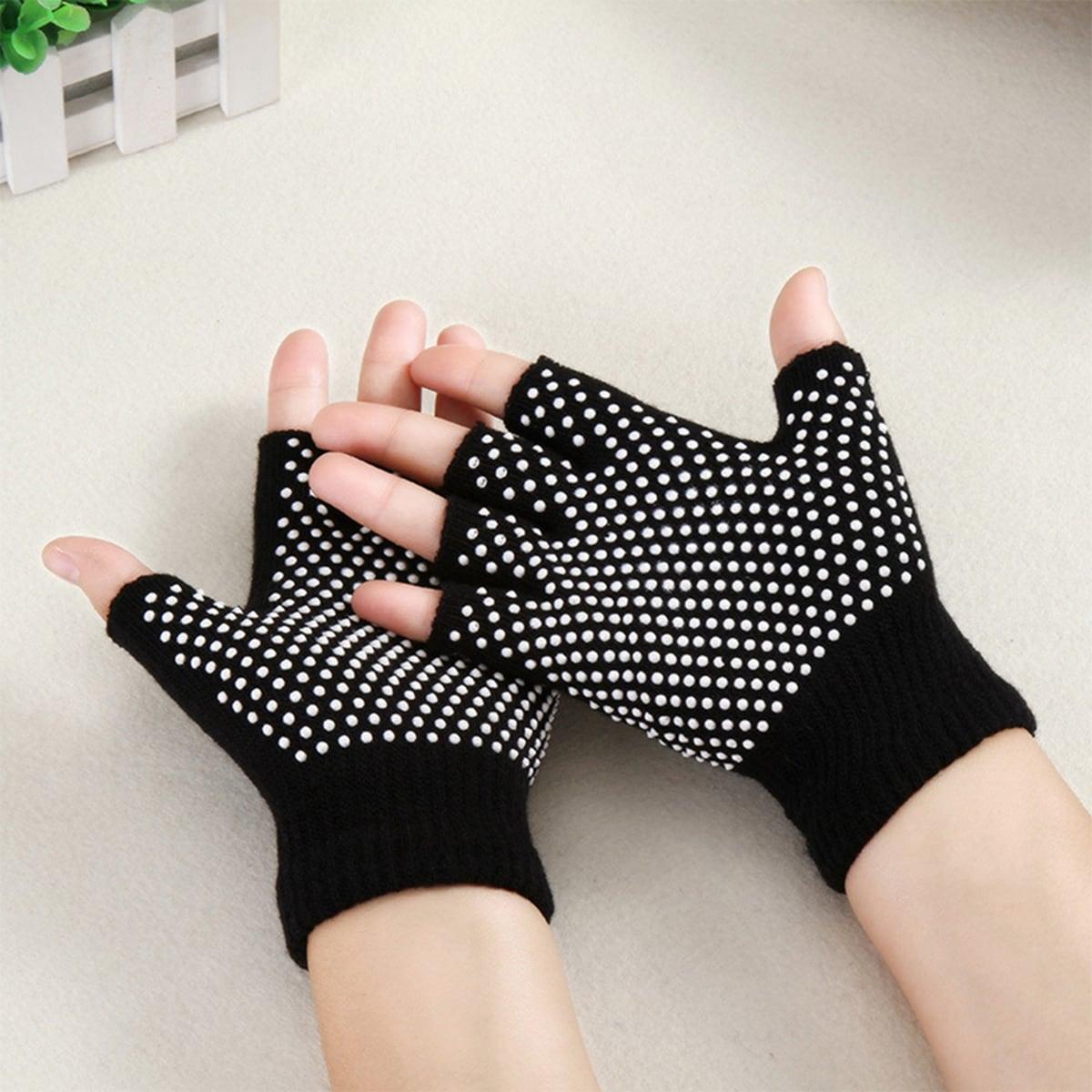 1 paar yoga-handschoenen met polkadotpatroon