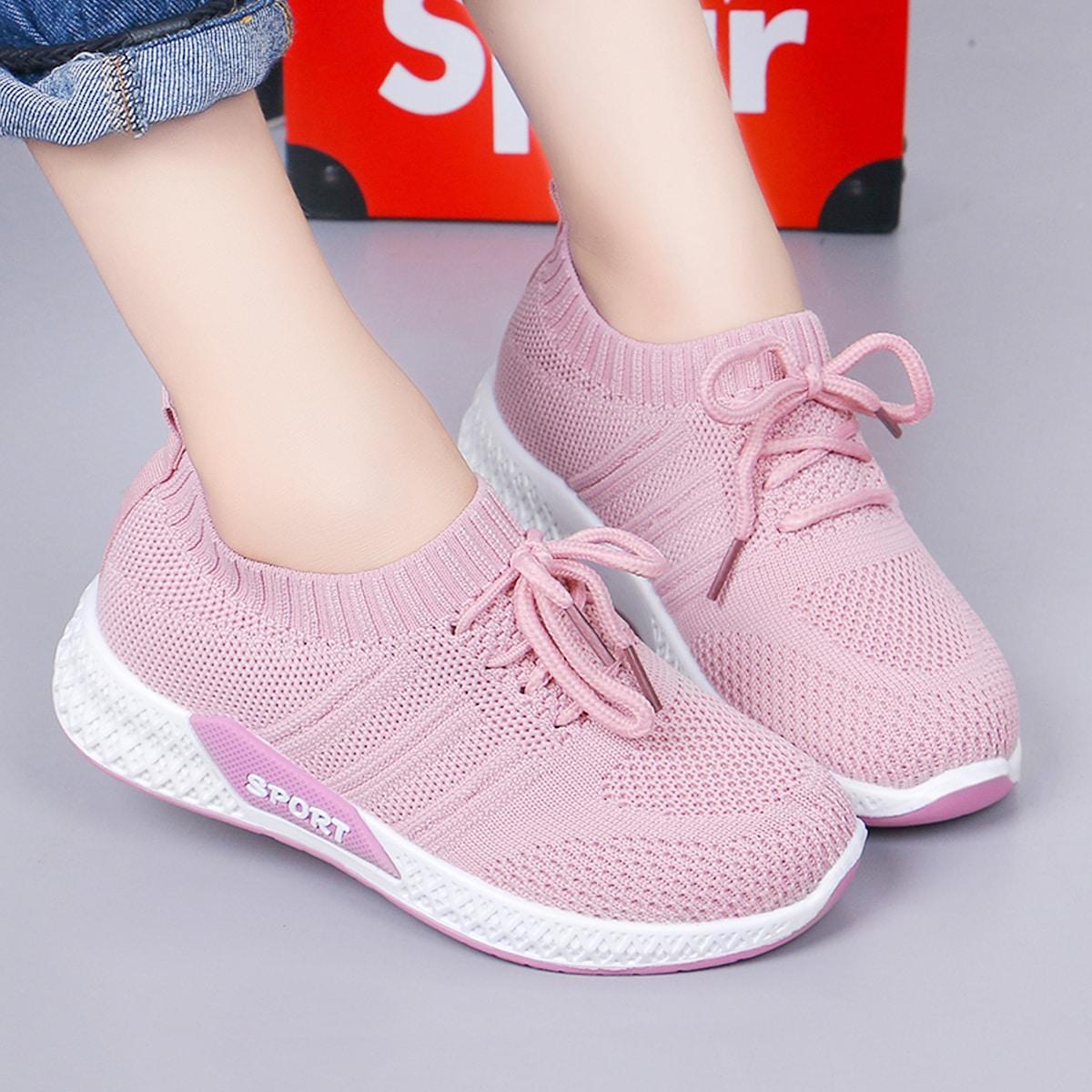 Кроссовки на шнуровках для девочек от SHEIN