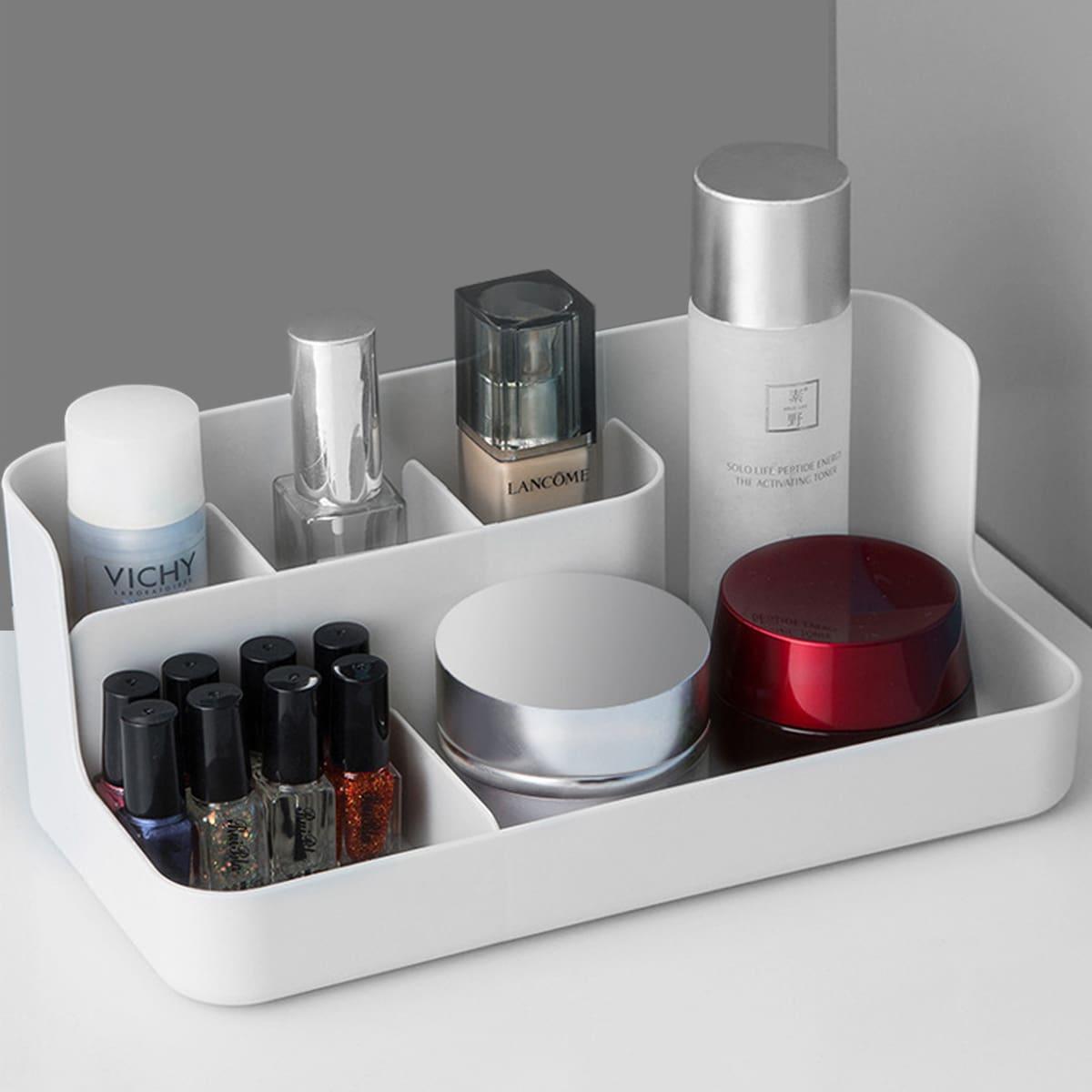Cosmetische opbergdoos met meerdere compartimenten