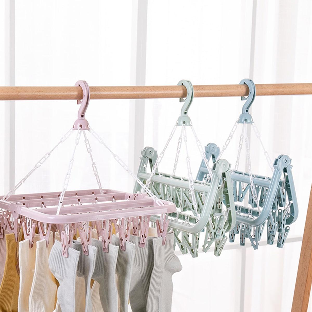 1pc opvouwbare plastic clip hanger