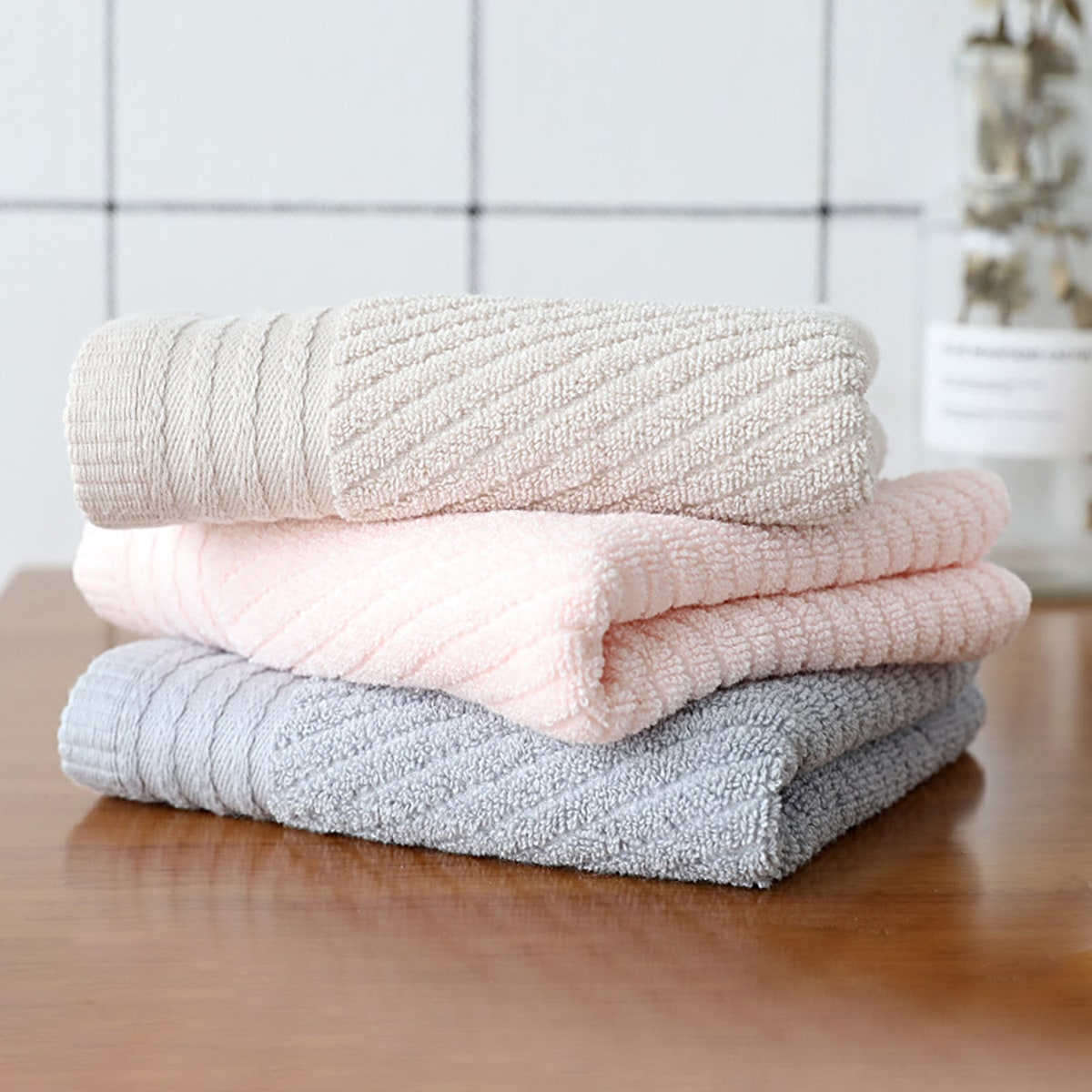 1 st vast absorberende handdoek