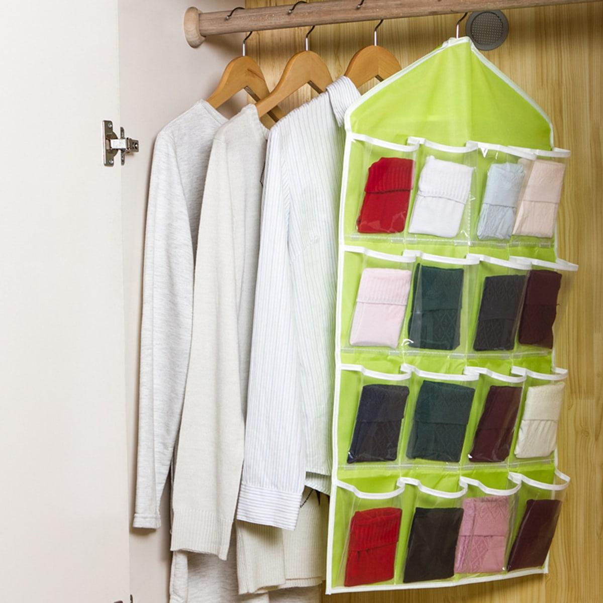1pc Multi zakken duidelijk hanger opbergtas