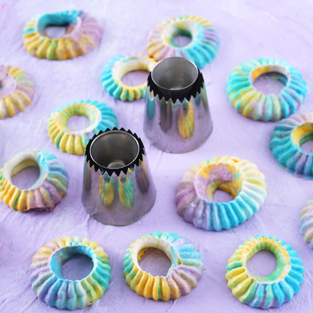 2 stks Bakken DIY Cookie Piping Nozzle