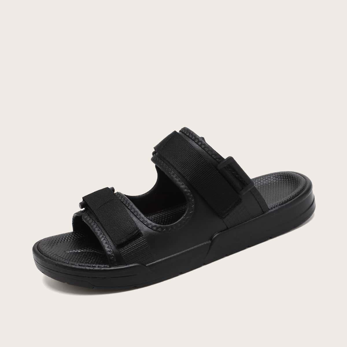 Wijde sandalen met open neus voor heren