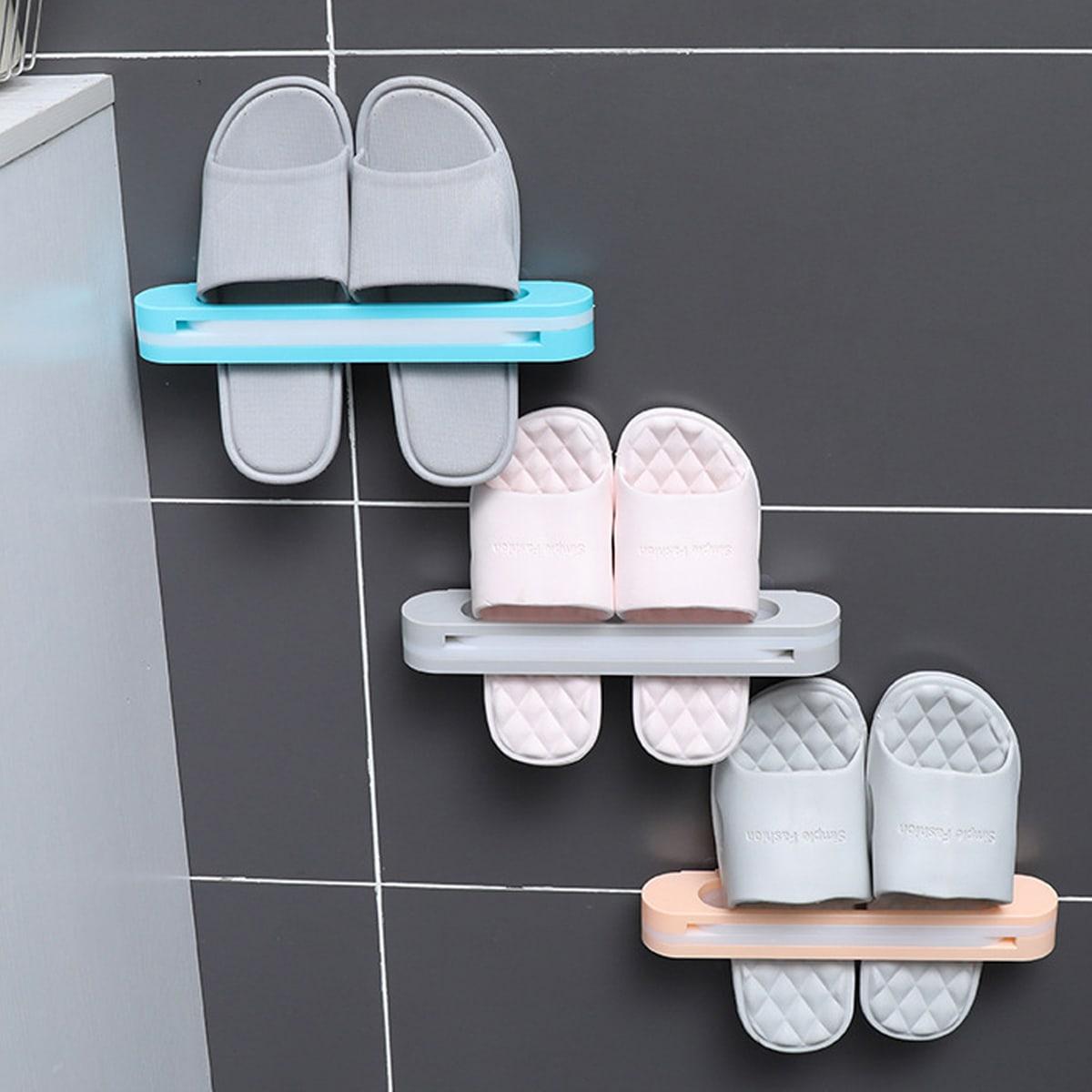 1pc wandmontage opvouwbaar schoenen opbergrek