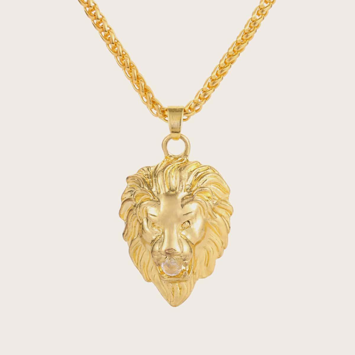 Мужское ожерелье с подвеской лева 1шт от SHEIN