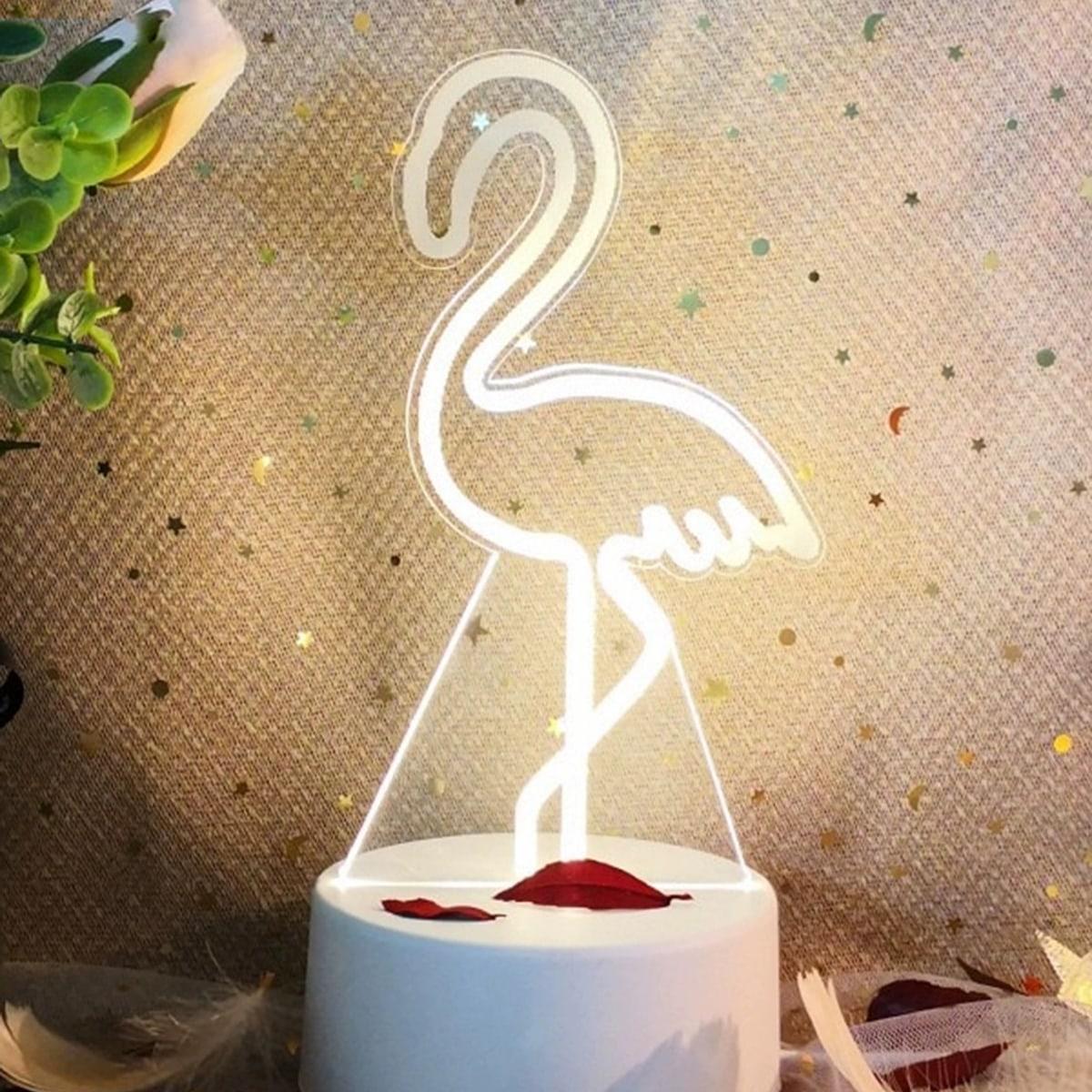 Flamingo gevormd nachtlicht