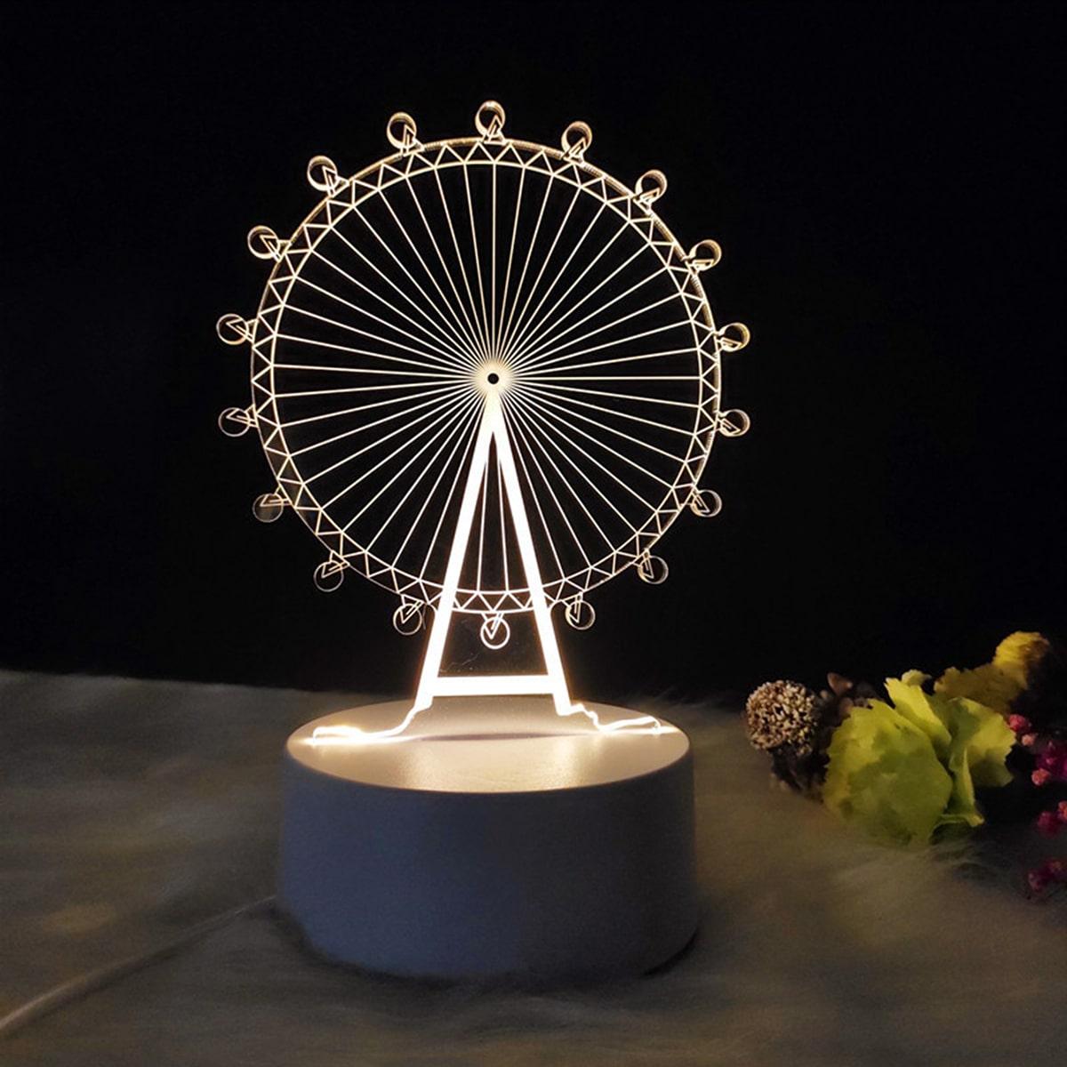 Reuzenrad gevormd nachtlicht
