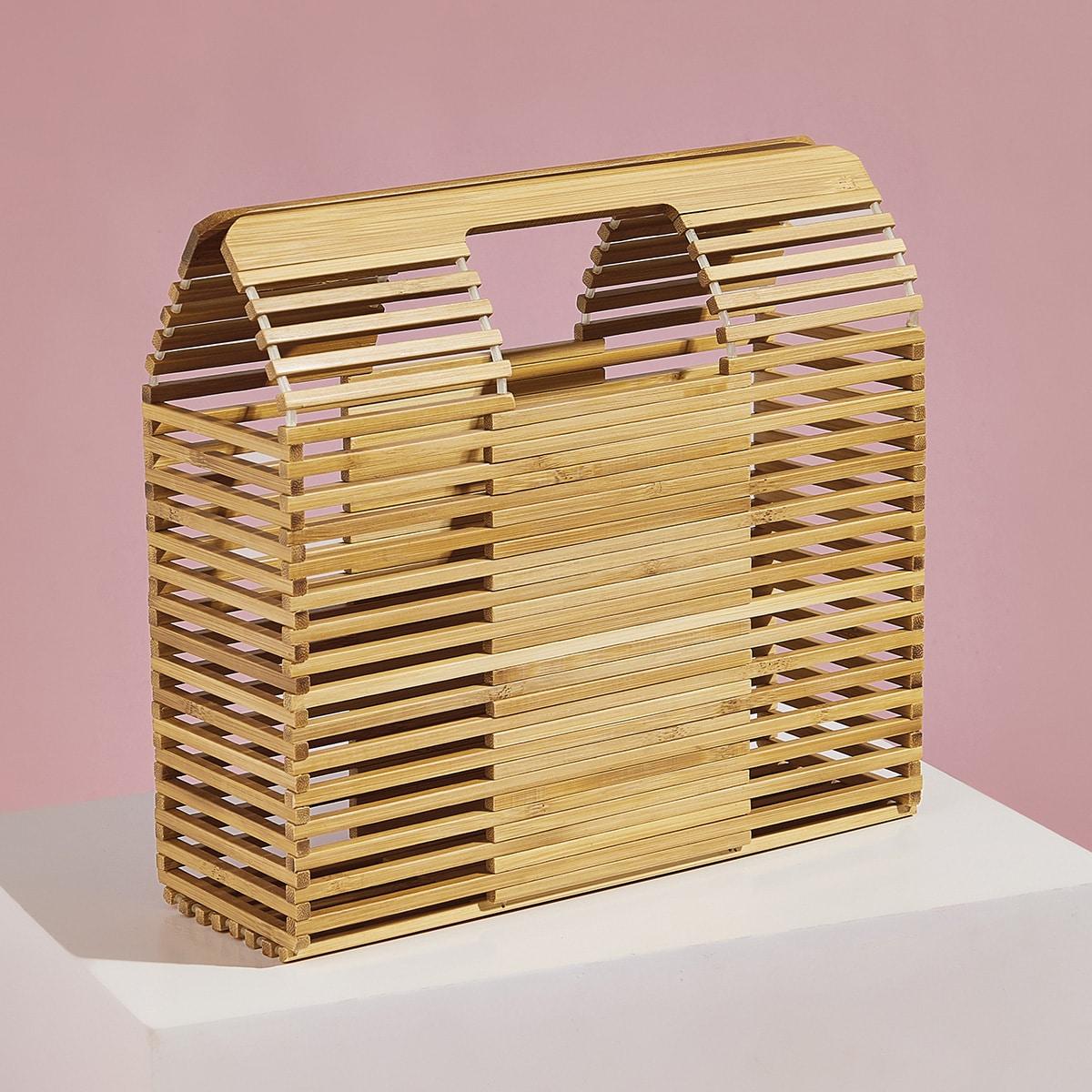 Полая структурированная сумка-портфель от SHEIN