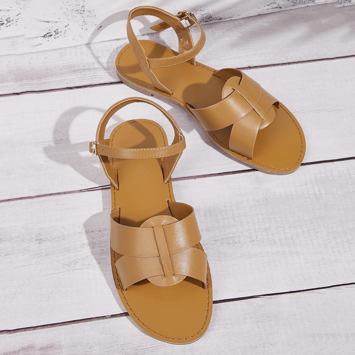 Tweedelige enkelband sandalen
