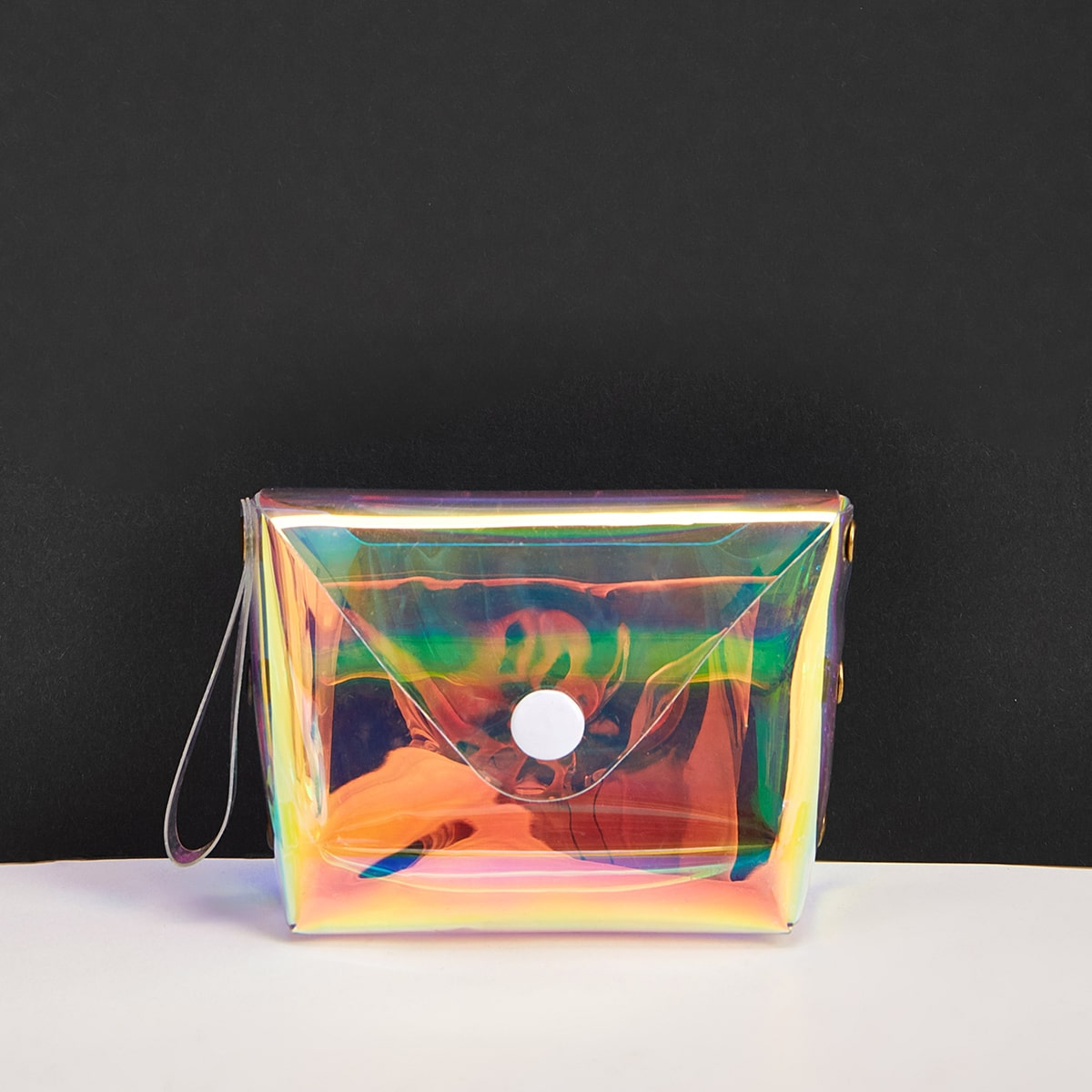 Holographic Clear Purse With Wristlet (swbag03200303391) photo