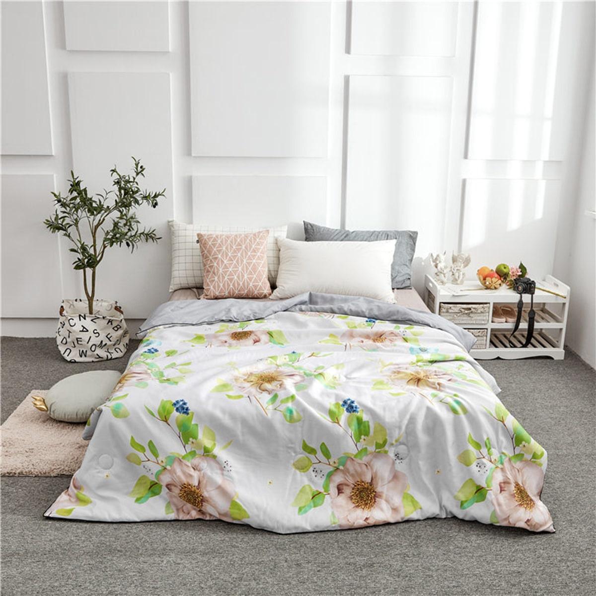 1pc bloemenprint quilt