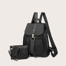 2pcs Large Capacity Backpack With Purse (swbag18200305580) photo