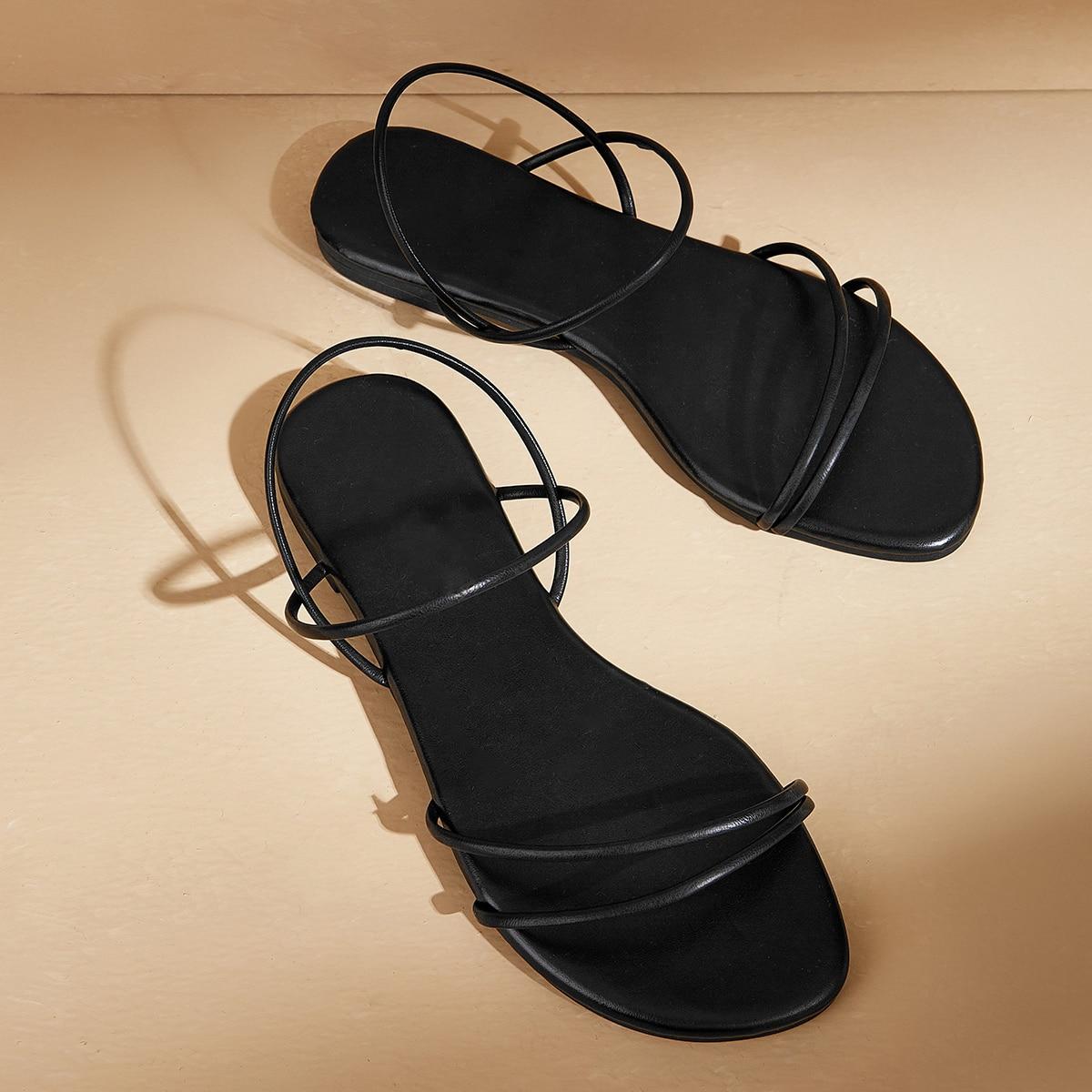 Сандалии с открытым носком
