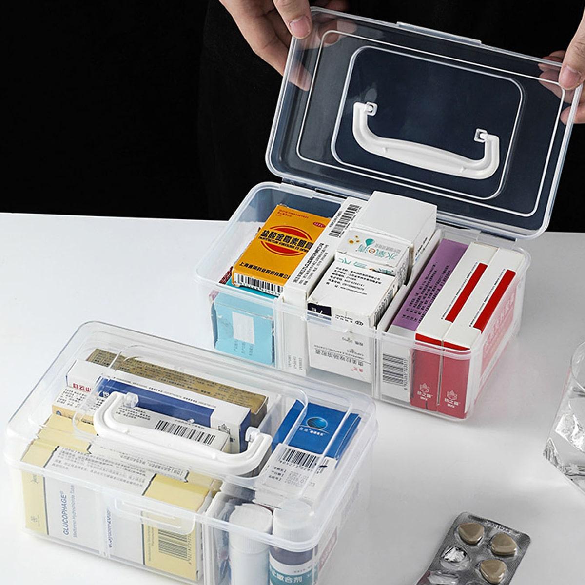 1 st duidelijke draagbare medische doos