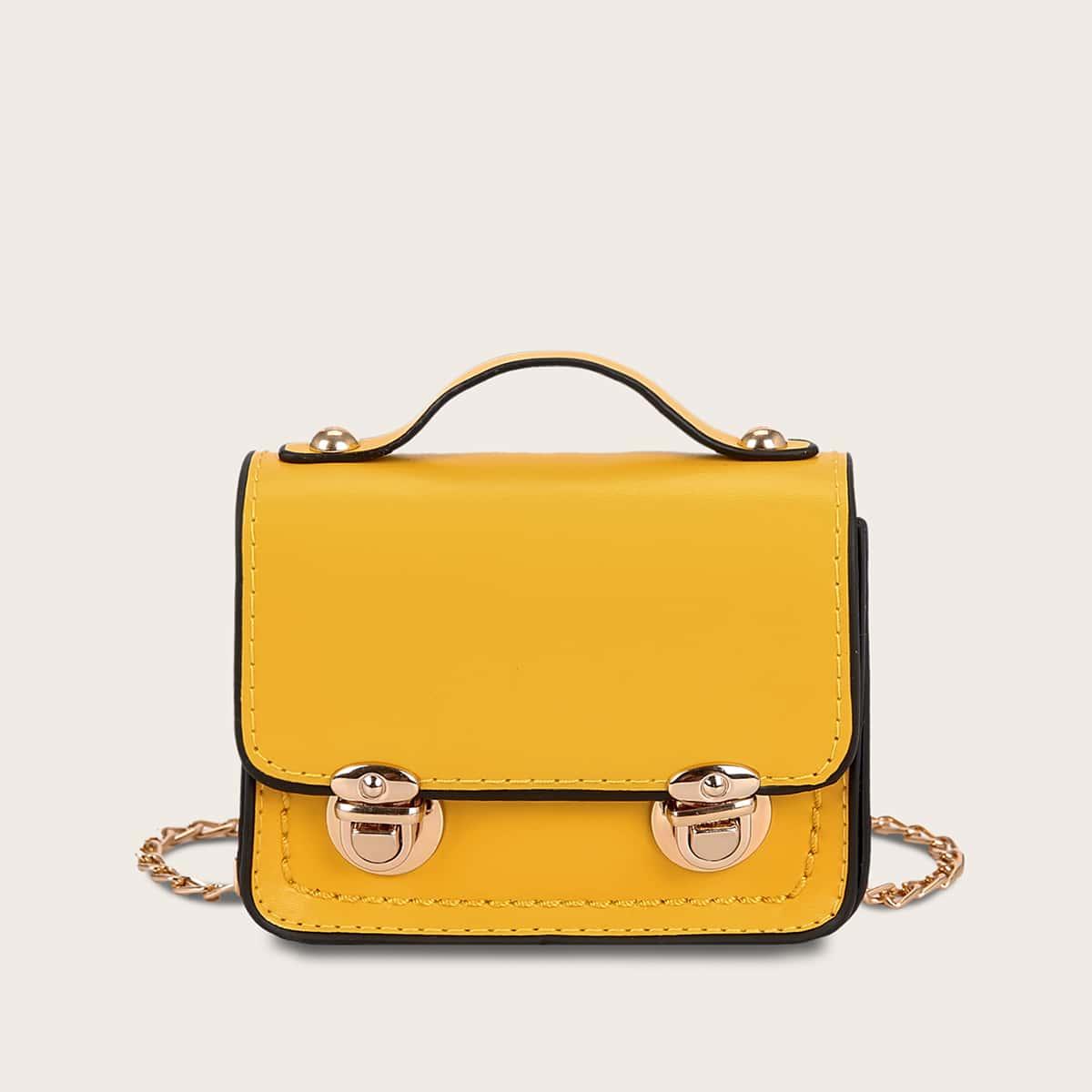 Satchel-tas met duwsluiting voor meisjes
