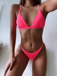 Triangle | Swimsuit | Bikini | Neon | Pink