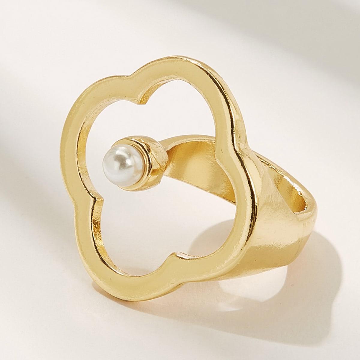 SHEIN / 1pc Kunstperlen Dekor Ring